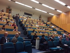 The audience at Sir John Bell's lecture